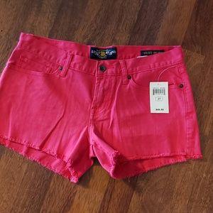 NWT Lucky Brand Hot Pink Stretch Denim Shorts
